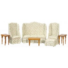 Aztec Imports- Living Room Set/7 piece