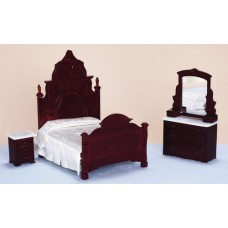 Aztec Imports- Bedroom Set/3/Mahogany
