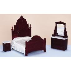 Aztec Imports- Bedroom Set/3/Mahogany