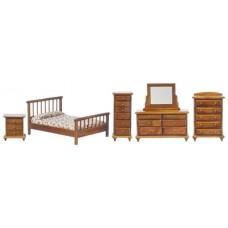 Aztec Imports- Bedroom Set/5/Walnut