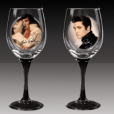 Ashton Drake- Cheers to a Legend Wine Glasses