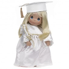 Precious Moments- Graduation Doll Blonde/White Dress