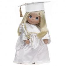 Precious Moments- Graduation Doll Blonde/White Dress
