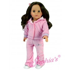 Sophia's- Light Pink Velour Sweatsuit