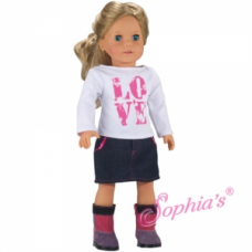 Sophia's®- Love T & Denim Skirt