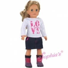 Sophia's®- Love T & Denim Skirt