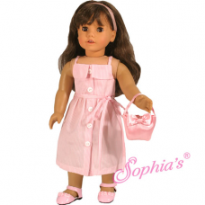 Sophia's® - Pink Stripe Dress with Satin Purse