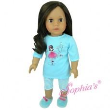 Sophia's -Aqua Ballerina Print PJ's