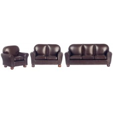 Aztec Imports- New Brown Leather Living Room