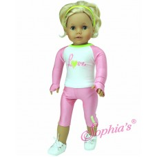 Sophia's -Pink & Lyme Workout Set