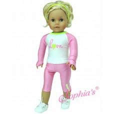Sophia's -Pink & Lyme Workout Set