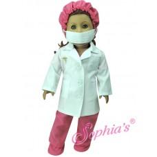 Sophias -Fuchsia Doctor Scrubs